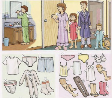 SLEEPWEAR%20AND%20UNDERWEAR SLEEPWEAR, UNDERWEAR, FOOTWEAR things english through pictures
