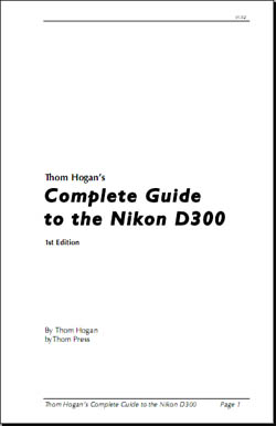 Livro Thom Hogan's Complete Guide to the Nikon D300