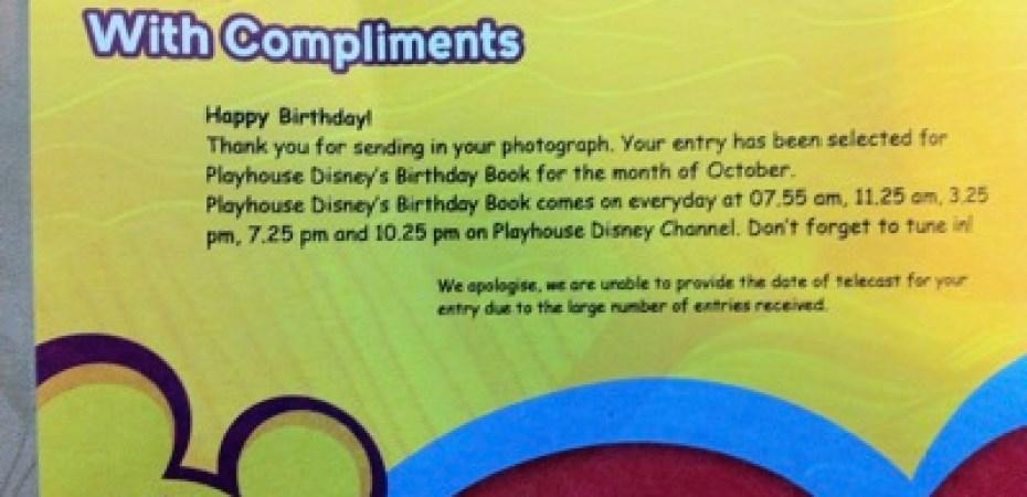 playhouse disney birthday book miniliew