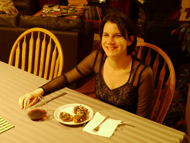 Dining on mushrooms and Pinot