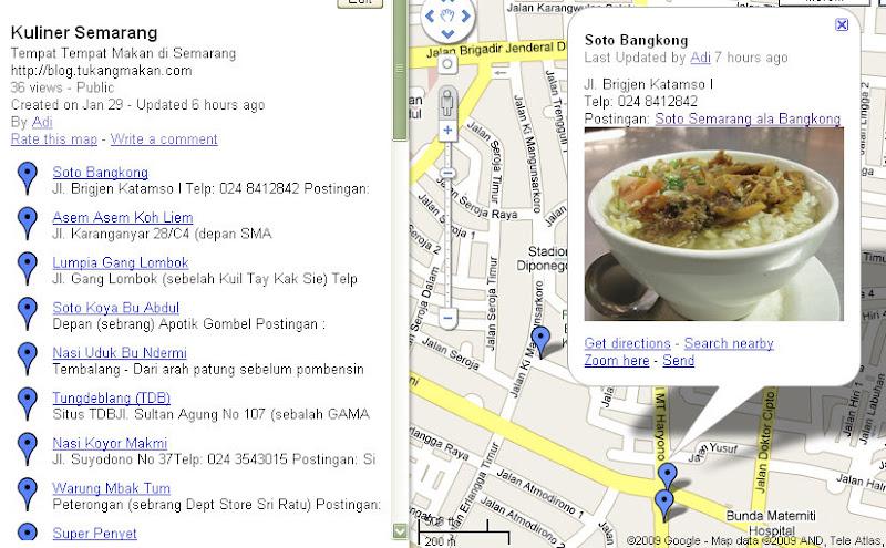 Peta Kuliner Semarang