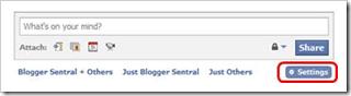 tab settings link
