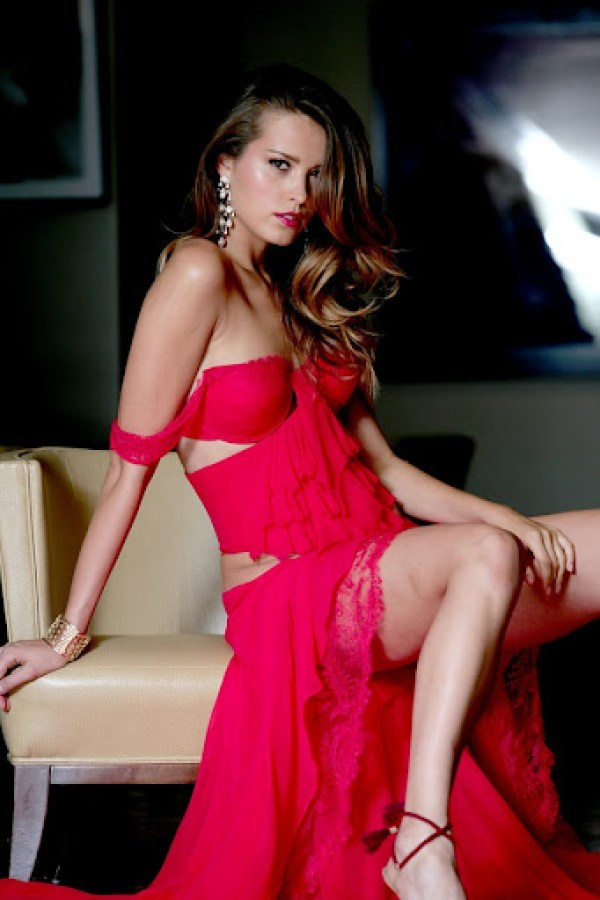Petra Nemcova red dress 9
