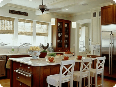 warm and bright kitchen