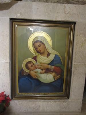 Mary breastfeeding