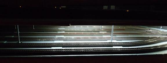 Schaduwstation gedeelte met verlichting