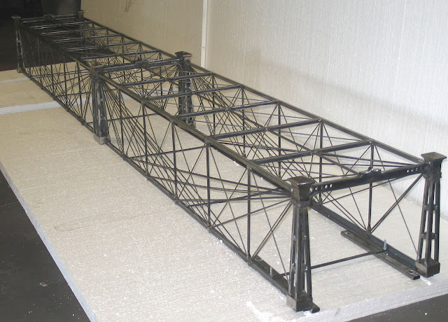 the finished g scale version is 11 feet 4 inches long 13 tall and 14 1 2 id 18 od wide enough for double track
