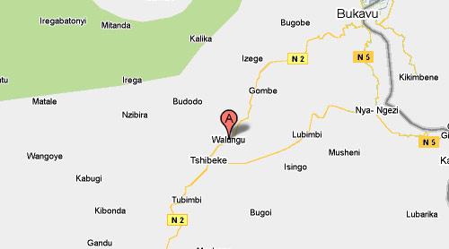 – Carte de Walungu au Sud-kivu