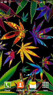 Falling Leaves Live Wallpaper Hd Weed Live Wallpaper Android Apps On Google Play