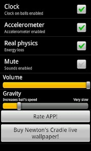 Newton's cradle screenshot 4