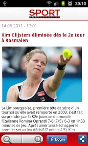 Sport/Footmagazine screenshot 1