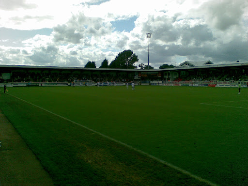 Rushden fans (in terrace and down sides)