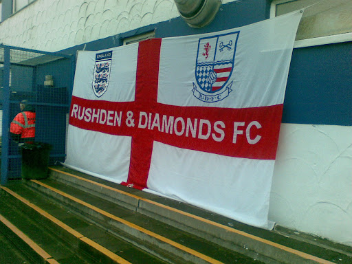 Rushden fans mark their territory.