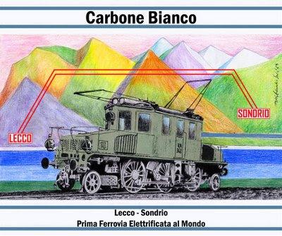 Cartolina Carbone-Bianco