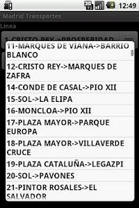 Madrid transportes screenshot 2