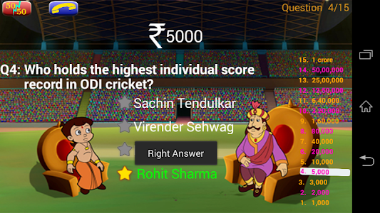 Cricket Quiz with Bheem screenshot 0