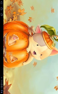 Falling Leaves Live Wallpaper Apps Android Pumpkin Kitten Wallpaper Free Android Apps On Google Play