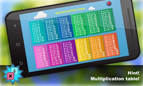 Math.Multiplication table Free screenshot 2