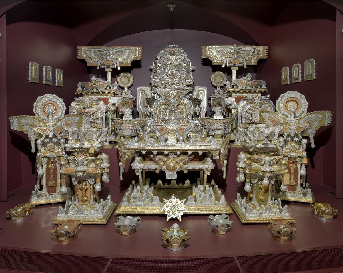 The Throne Of The Third Heaven Of The Nations Millennium General Assembly James Hampton Google Arts Culture