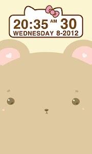 Cute Bear Clock Widget screenshot 3