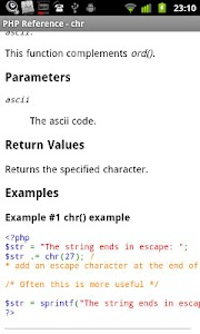 PHP Reference screenshot 1
