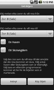 SMSBiljett (GRATIS) screenshot 6