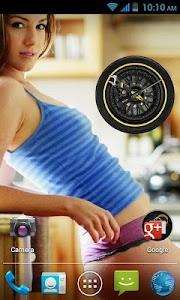 Wheel Analog Clock HD free screenshot 2