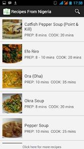 Recipes from Nigeria screenshot 0