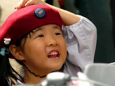 Niña japonesa en la guardería