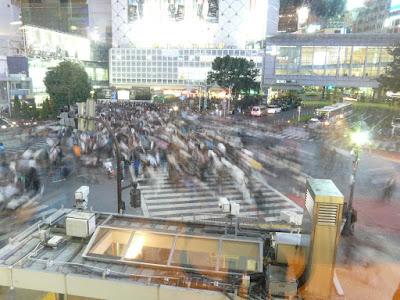 Cruce de Shibuya de noche