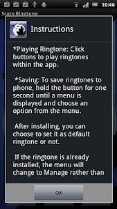 Scary Ringtone screenshot 0