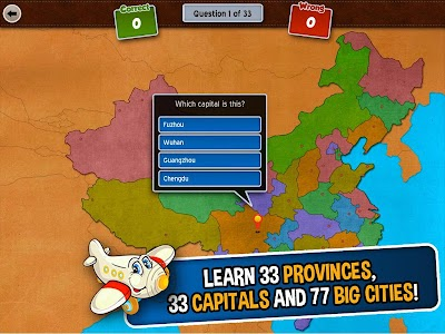 GeoFlight China: Geography screenshot 1