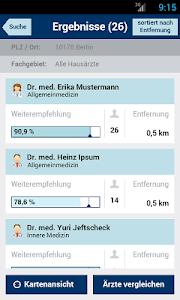 Weisse Liste Arztsuche screenshot 1