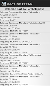 Sri Lankan Live Train Schedule screenshot 8