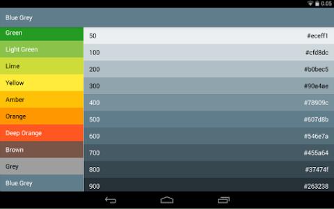 Material-Design-Colors screenshot 3