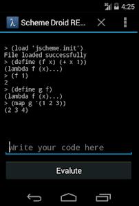 Scheme Droid screenshot 0