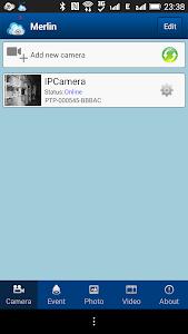 Merlin ipcam screenshot 1