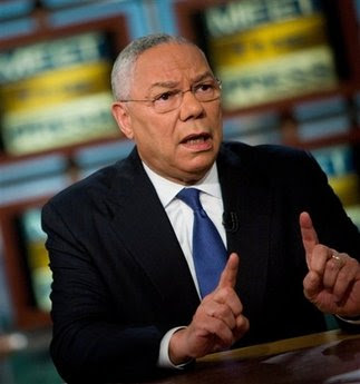 In this photo provided by NBC, Meet The Press, shows former Secretary of State Gen. Colin Powell speaking during a taping of Meet the Press at NBC Sunday Oct. 19, 2008, in Washington. Powell, a Republican who was President Bushs first secretary of state, endorsed Democrat Barack Obama for president Sunday, and criticized the tone of Republican John McCains campaign. (AP Photo/Meet The Press, Brendan Smialowski)