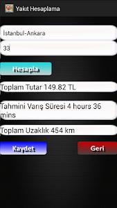 Yakıt Tüketim Hesaplama screenshot 1