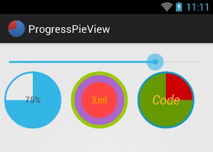 ProgressPieView screenshot 0
