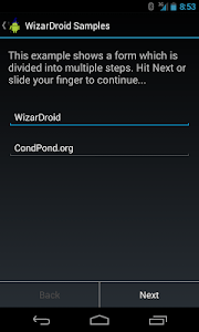 WizarDroid Sample screenshot 0