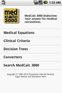 MedCalc 3000 Endocrine screenshot 0