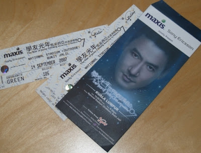 Jackie Cheung's Concert Tickets