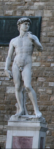 Replica of the David in the Piazza Signoria where it originaly stood.