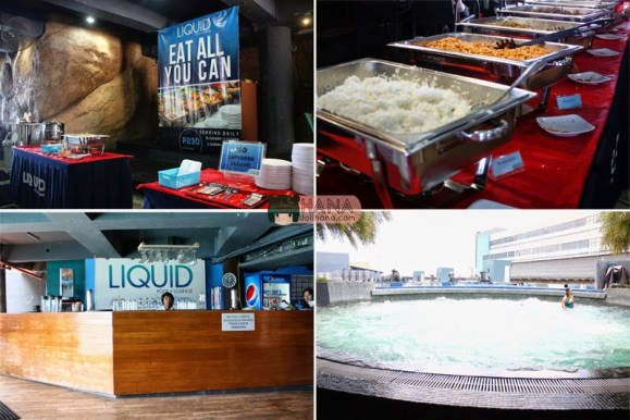 liquid pool lounge buffet