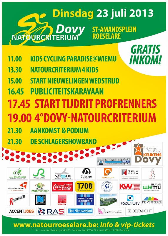 affiche Natourcriterium Roeselare 2013