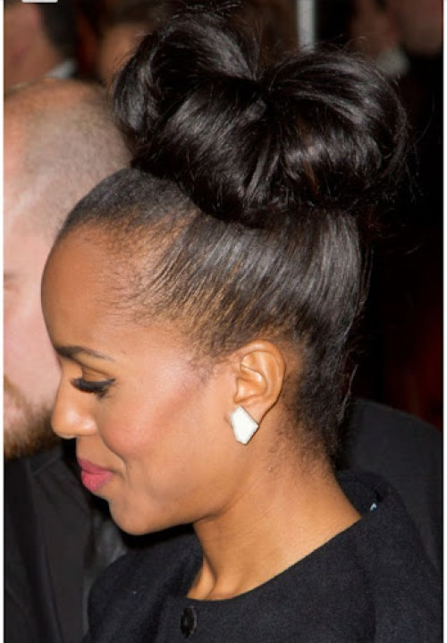 kerry washington bun hair
