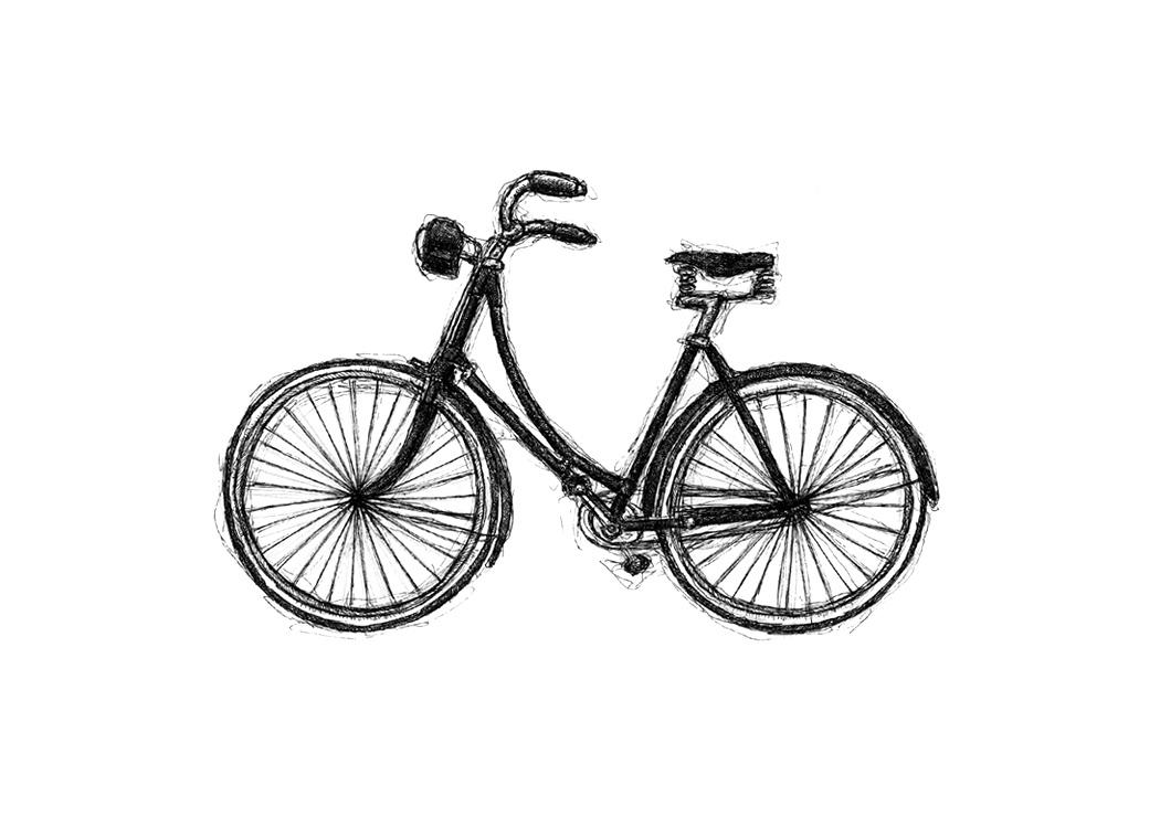 Drawing: Vintage Bikes