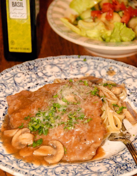 Lightened Up Chicken or Veal Marsala