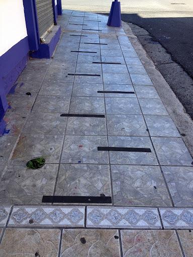 Beautiful Ceramic tile sidewalk